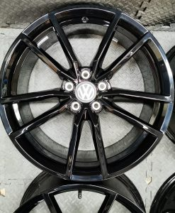 black vw alloys polo